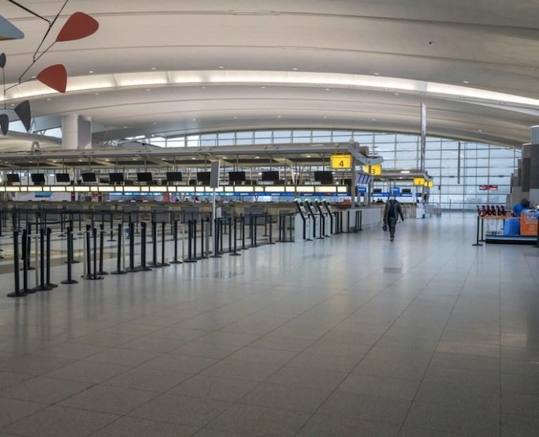 empty terminal in JFK airport