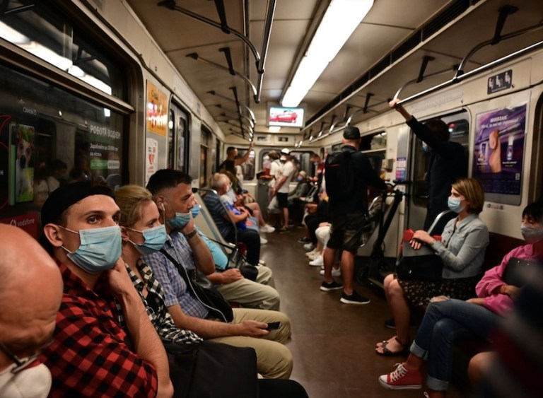 ukraine subway during pandemic