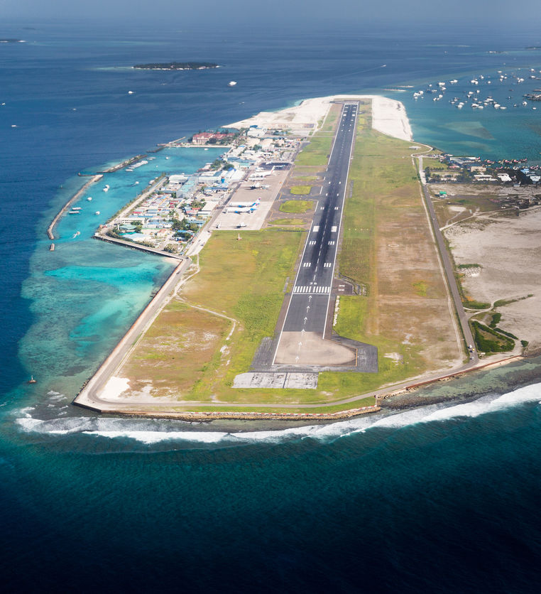 Malé International Airport in Maldives