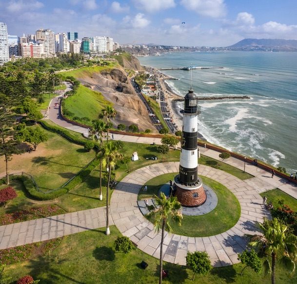 lighthouse of Miraflores, in Lima, Peru.