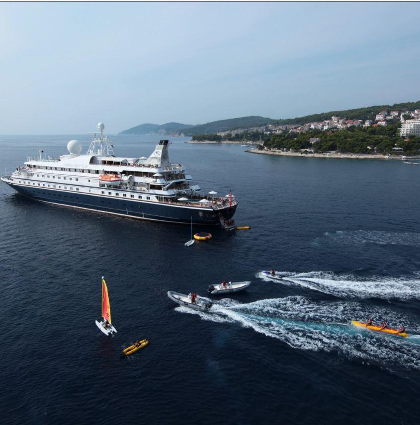 SeaDream Yacht Club features small ship sailings (Image SeaDream Yacht Club)
