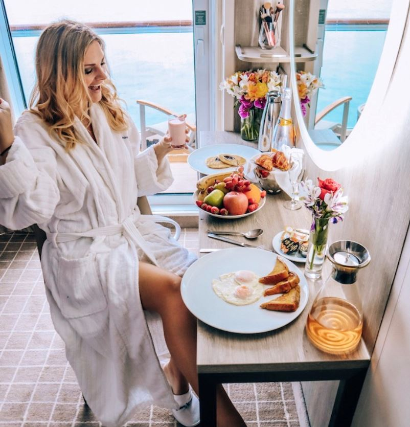 celebrity cruise breakfast luxury
