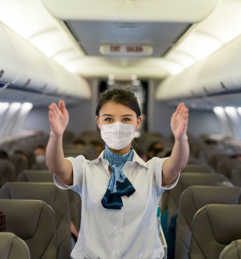 máscara de asistente de vuelo