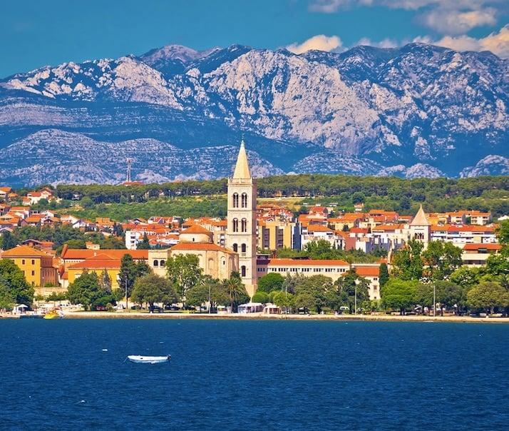 mountains sea croatia