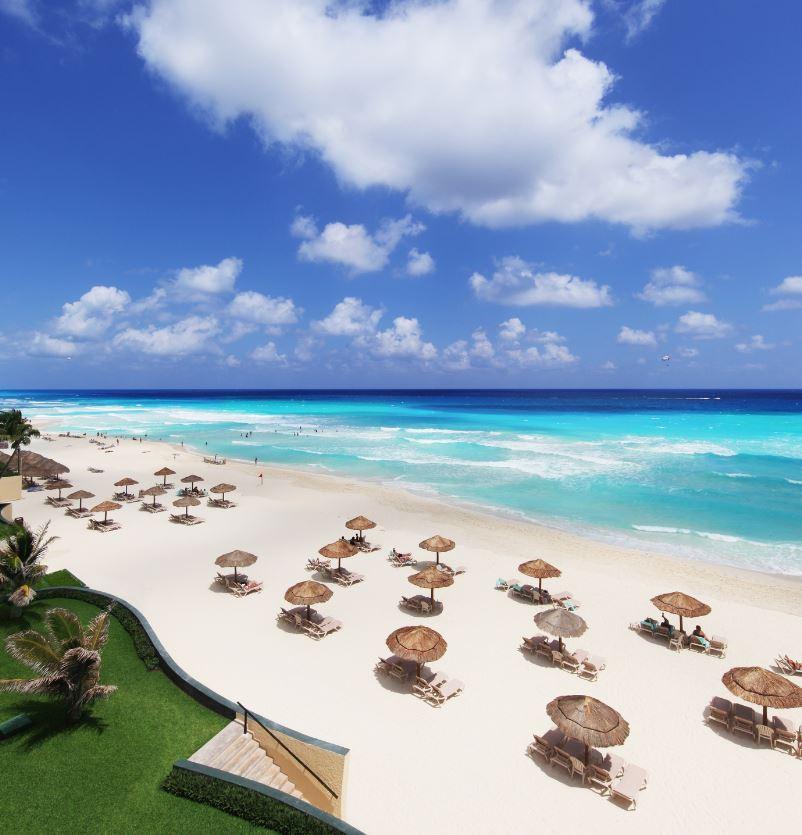 cancun white sand beach