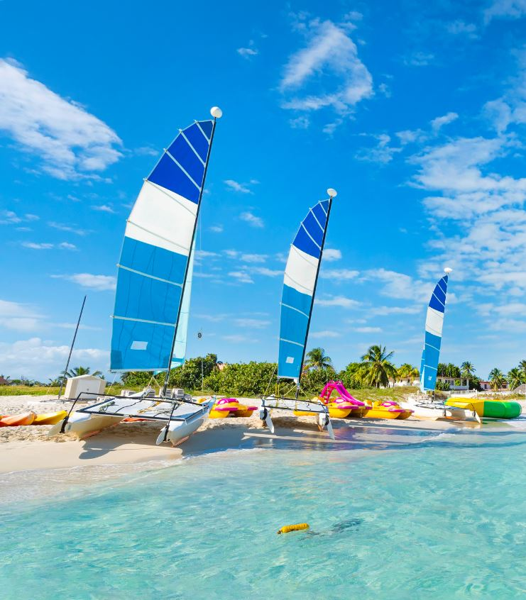 sailboat on beach un cuba for tourists