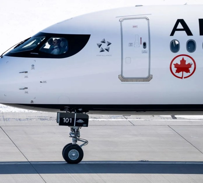 Air Canada plane ready for take off