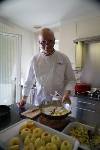 Chef Christophe leads tour