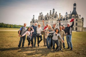 fun at Chambord castle