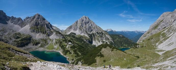 Gipfelpanorama: Drachensee, Vorderer Tajakopf, Seebensee
