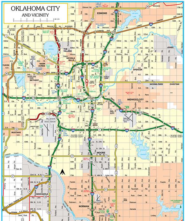 Oklahoma Map TravelOKcom Oklahoma39s Official Travel