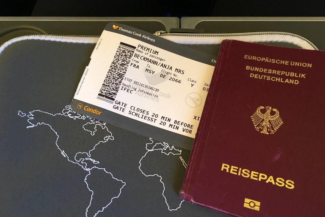 Langeafstandsvlucht: reisdocumenten voor de vlucht