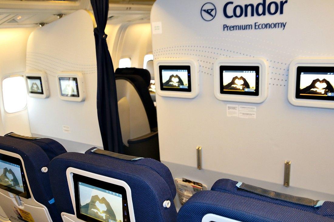 Langeafstandsvlucht: Premium Economy Class bij Condor