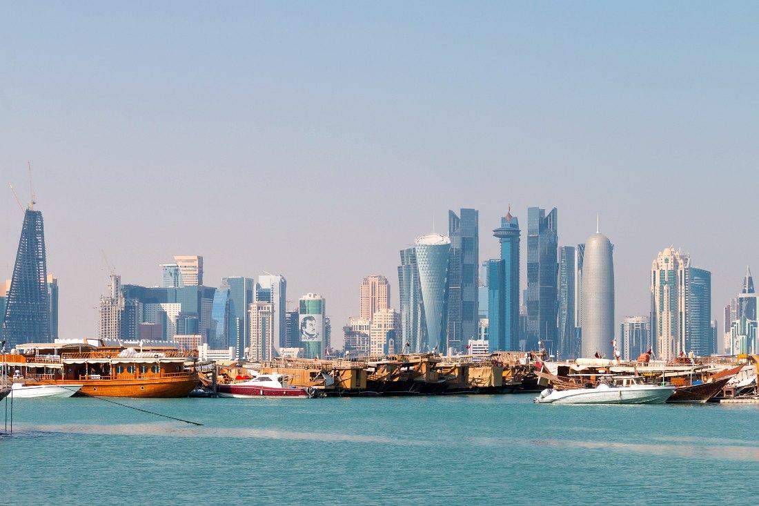 Skyline van Doha Qatar