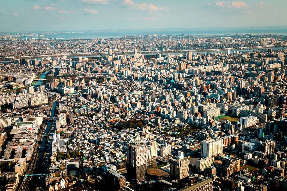 Uitzicht vanaf Tokyo Skytree