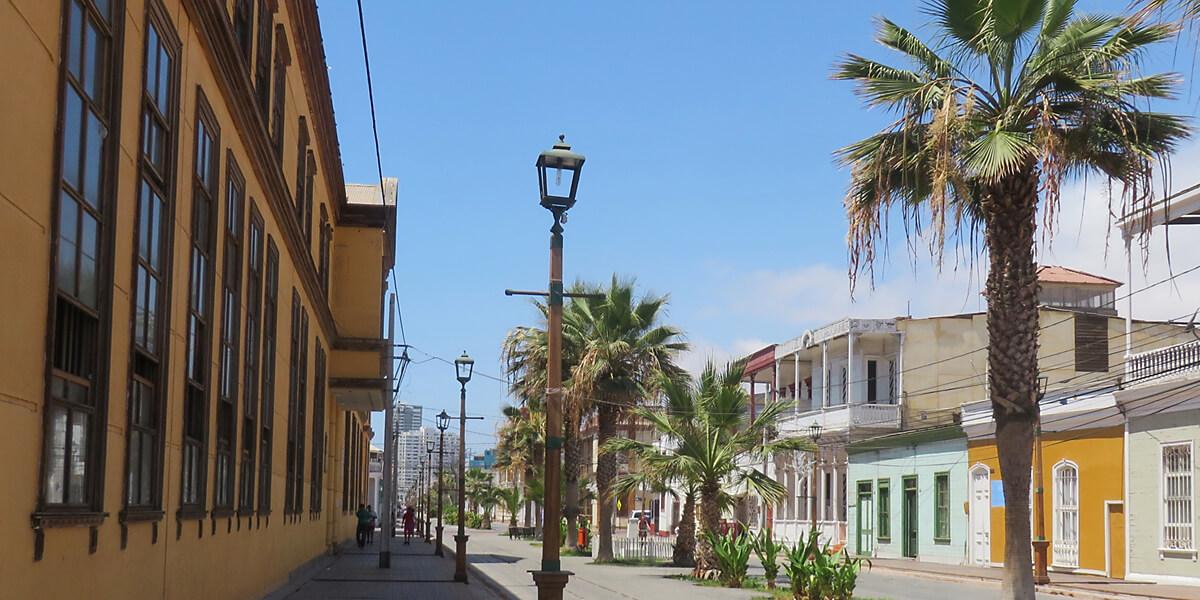 Koloniale Häuser in Iquique