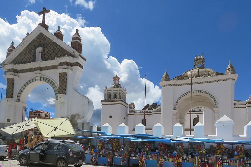 Copacabana Religion: Basilica in Copacabana in Bolivien