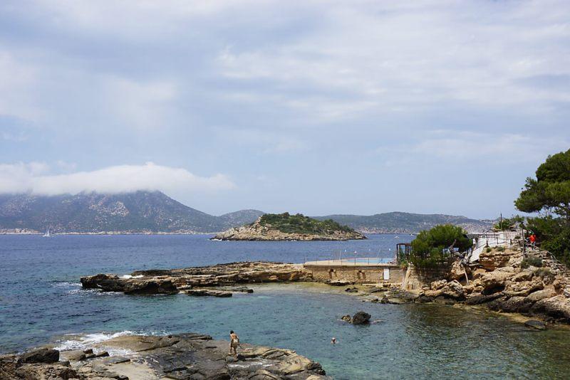 Blick auf die Dracheninsel vor Sant Elm