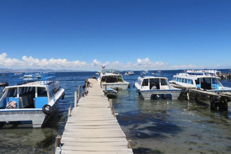 Boote zur Sonneninsel im Titicacasee