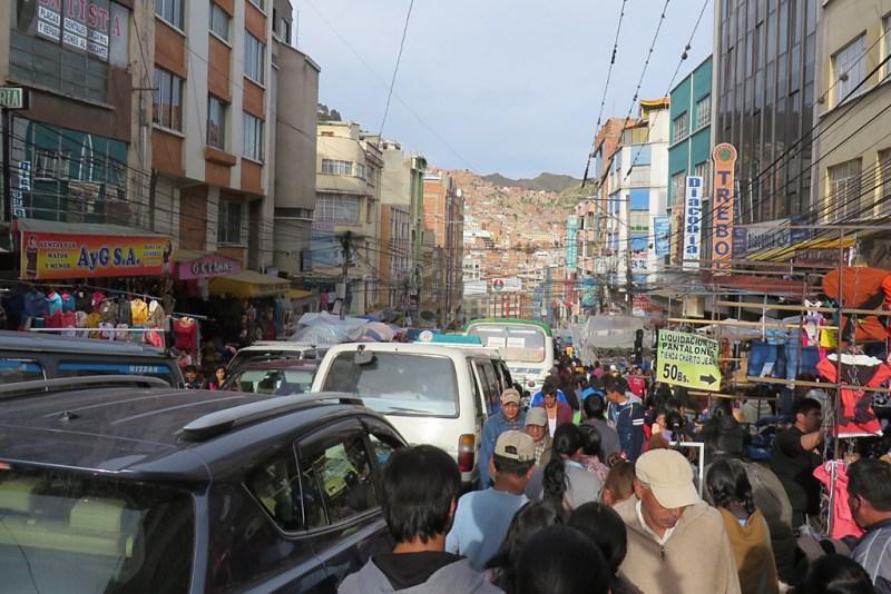Bolivien Sicherheit: Verkehrschaos in La Paz