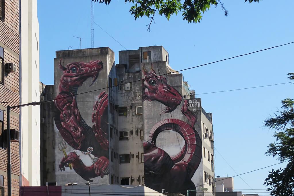 Graffiti Kunst im Alltag Südamerikas