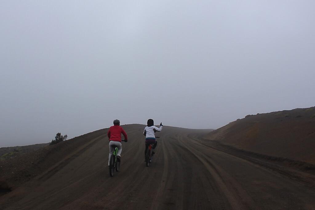 Mit dem Mountainbike auf dem Vulkan Chimborazo