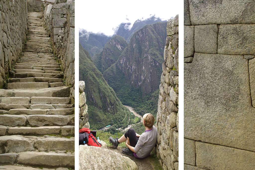 Inkamauern und Steine in Machu Oicchu