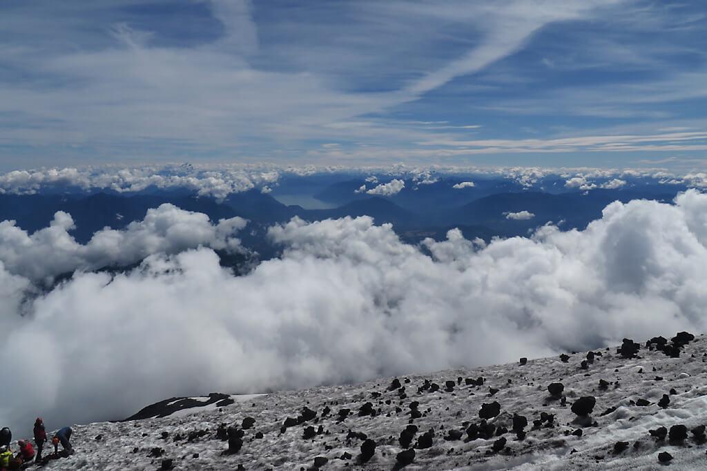 Chilenische Anden - Blick vom Vulkan