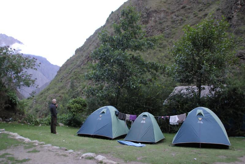 Zelten auf dem Inka Trail
