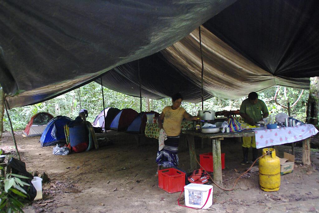 Zelten im Urwald von Ecuador