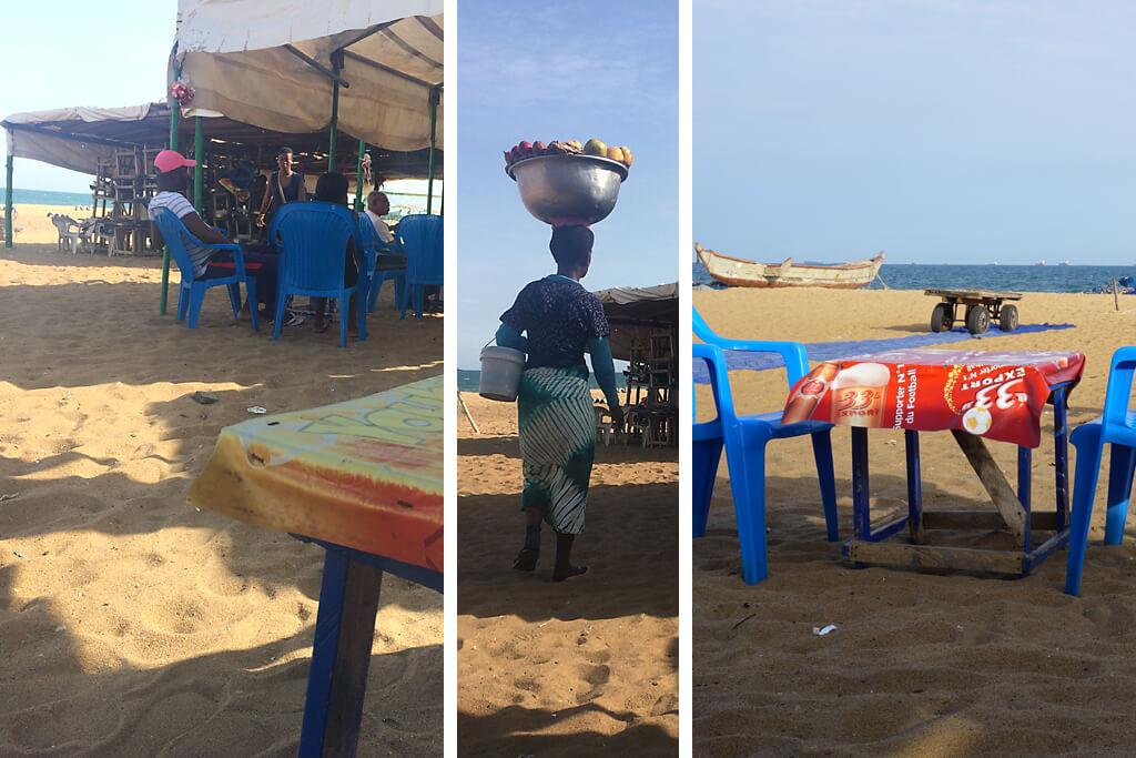 Strandbar in Lome in Togo