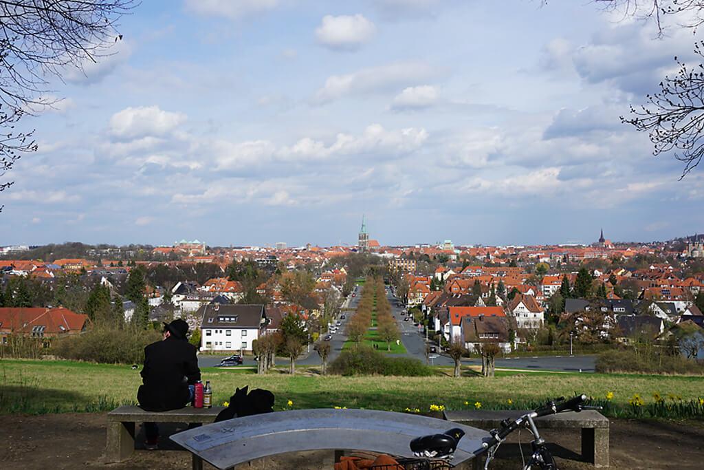 Blick vom Moritzberg auf Hildesheim