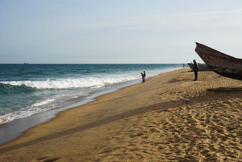 Strand von Togo in Lome