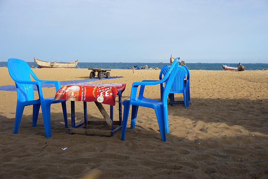 Marquis am Strand von Lomé