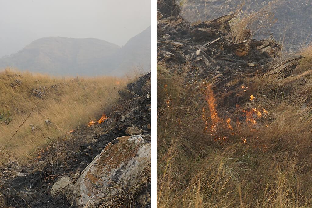 Buschfeuer im Agumatsa Resort Ghana