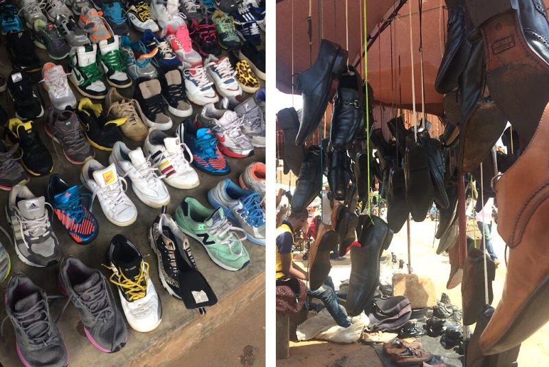 Schuhe auf dem Markt von Lomé