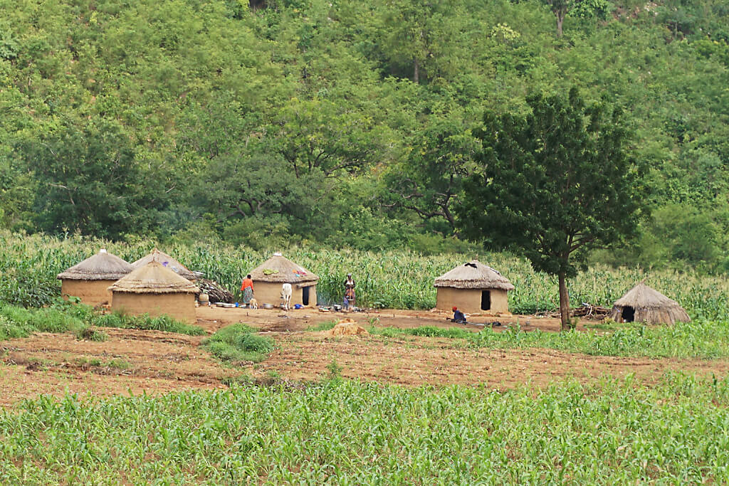 Rundhäuser bei Kara in Togo