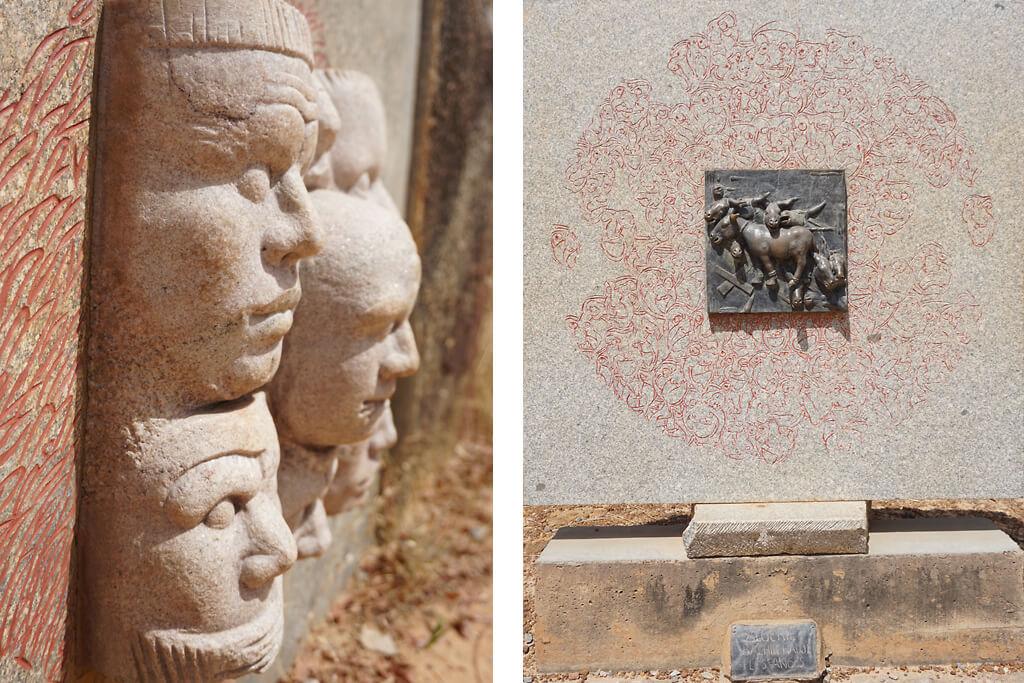Skulpturen im internationalem Parque de granit Laong bei Ougadougou in Burkina Faso