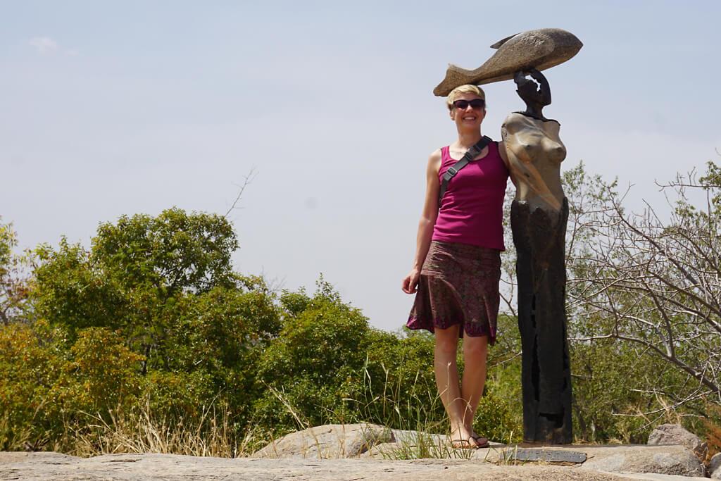 Parque international de granit Laong bei Ouagadougou in Burkina Faso