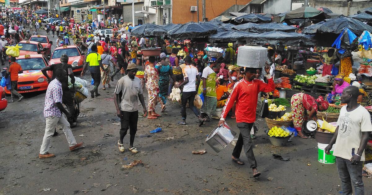 Adjamé in Abidjan, Elfenbeinküste