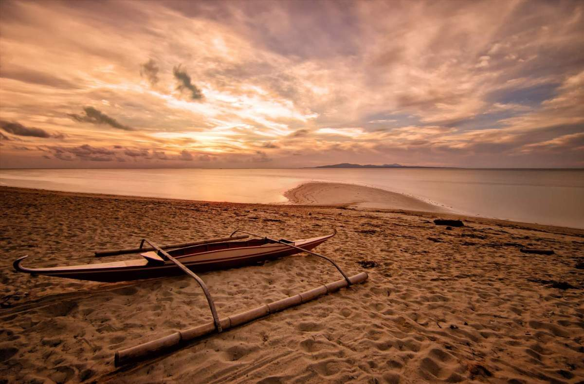 Cagbalete Island Sunrise in front of Joven's Beach Resort