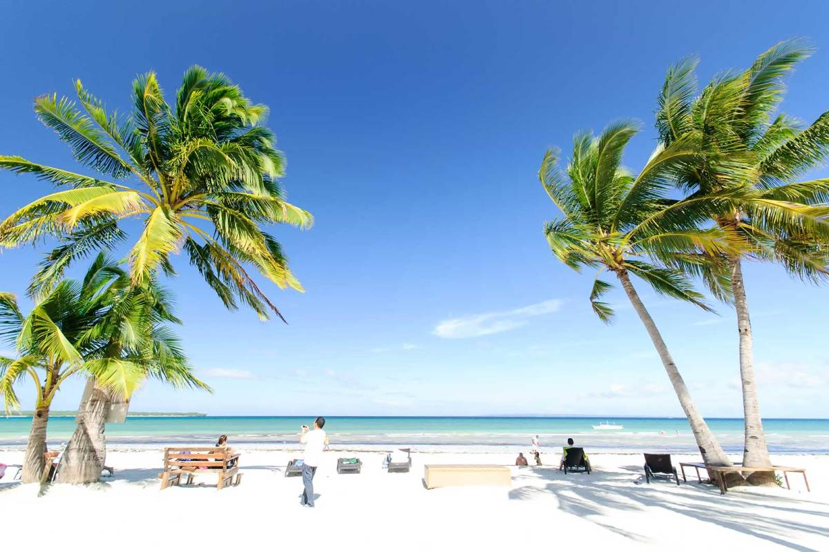 Anika Island Resort's beachfront, Alice Beach, Bantayan Island