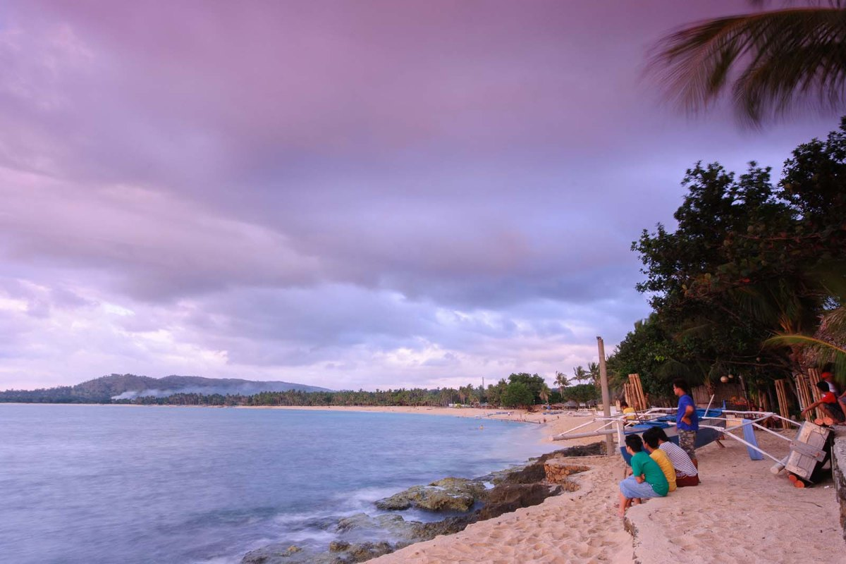 Gazing at the sky and sea at Burayoc Point
