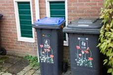 Mülltonnen in Muiden.