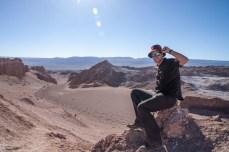 """Auf dem """"Gipfel"""" einer Sanddüne"""