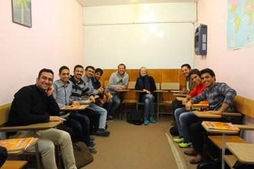 Micha und Michi zu Gast in der Englisch-Sprachschule im Iran