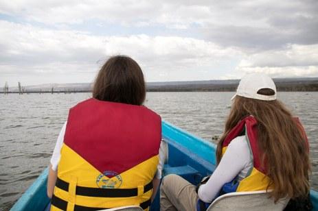 Auf Bootsafari am Lake Naivasha