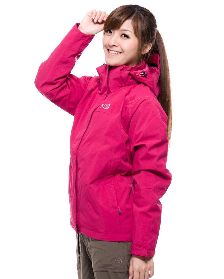 t+樂遊家 戶外旅遊專賣店 產品呈現 Millet MIV4683 女 GTX防水透氣兩件式夾克 分類:登山衣物