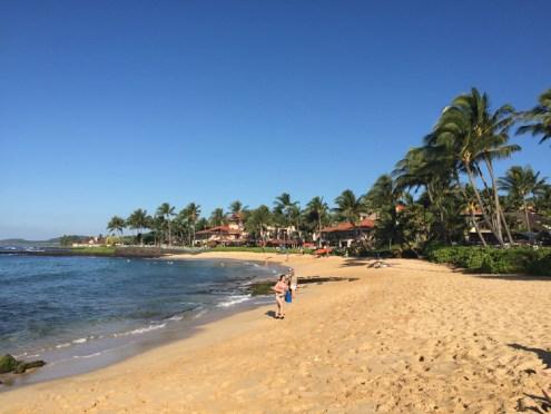 Poipu Beach facing west/nw