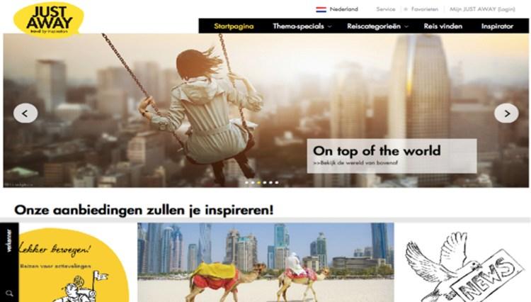 Online reisaanbieder JUST AWAY naar Nederland